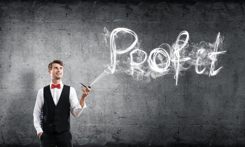 Imagem conceptual do homem de negócios novo foto de stock royalty free