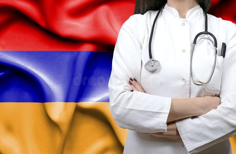 Imagem conceptual do sistema de saúde nacional em Armênia imagens de stock