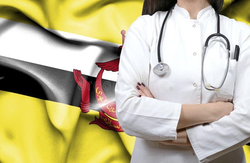 Imagem conceptual do sistema de saúde nacional em Brunei Darussalam fotografia de stock royalty free