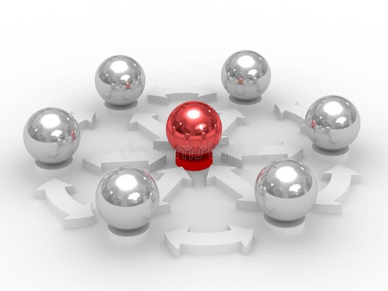 Imagem conceptual dos trabalhos de equipa ilustração royalty free