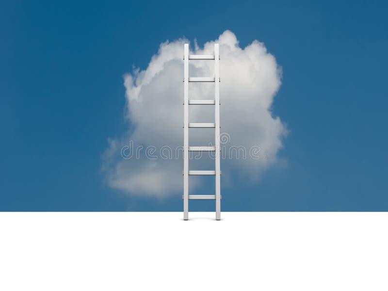 Imagem conceptual - escada no céu fotos de stock