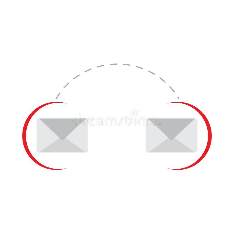 Imagem conectada dos envelopes ilustração do vetor