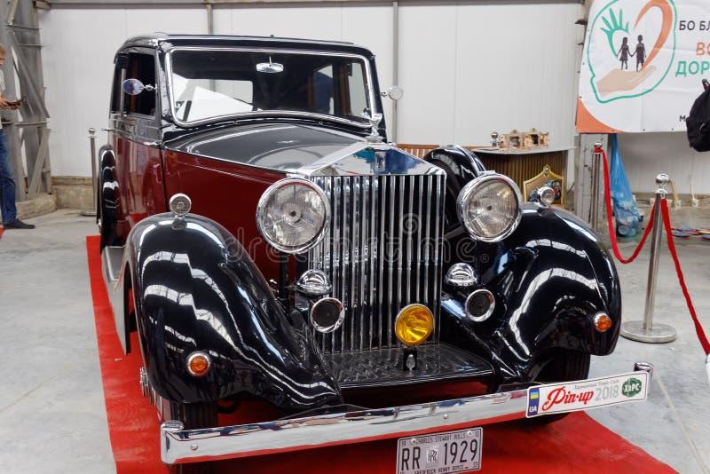 Imagem conservada em estoque automobilístico do vintage de Rolls-Royce Phantom II foto de stock