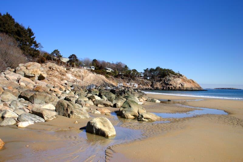 Imagem conservada em estoque da praia do canto imagem de stock