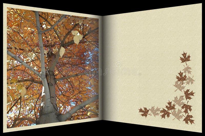 Imagem conservada em estoque do cartão do outono ilustração royalty free
