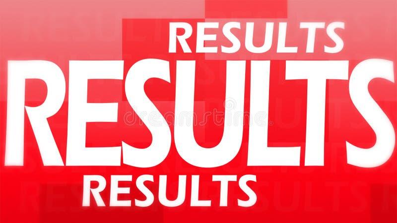 Imagem creativa de resultados vermelhos ilustração royalty free