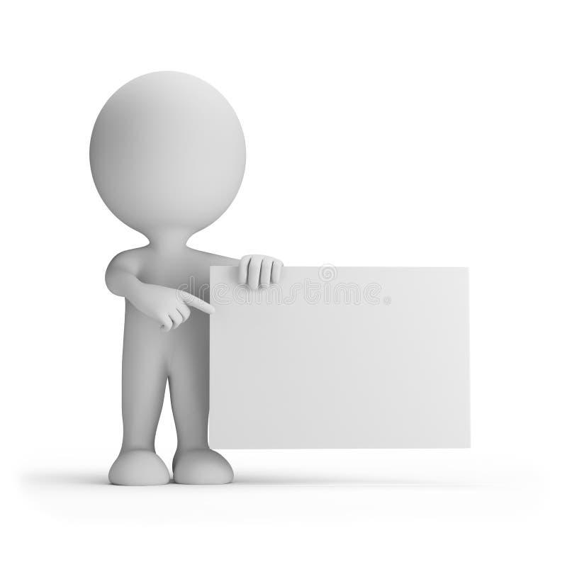 imagem 3d Fundo branco ilustração do vetor