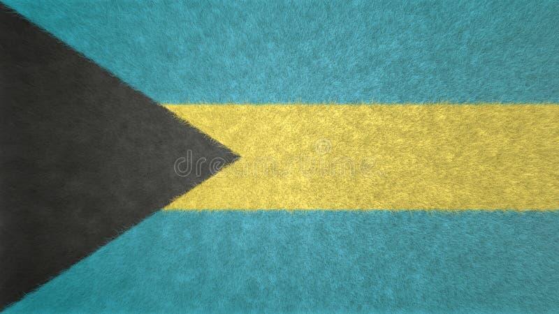 Imagem 3D original da bandeira do Bahamas ilustração royalty free