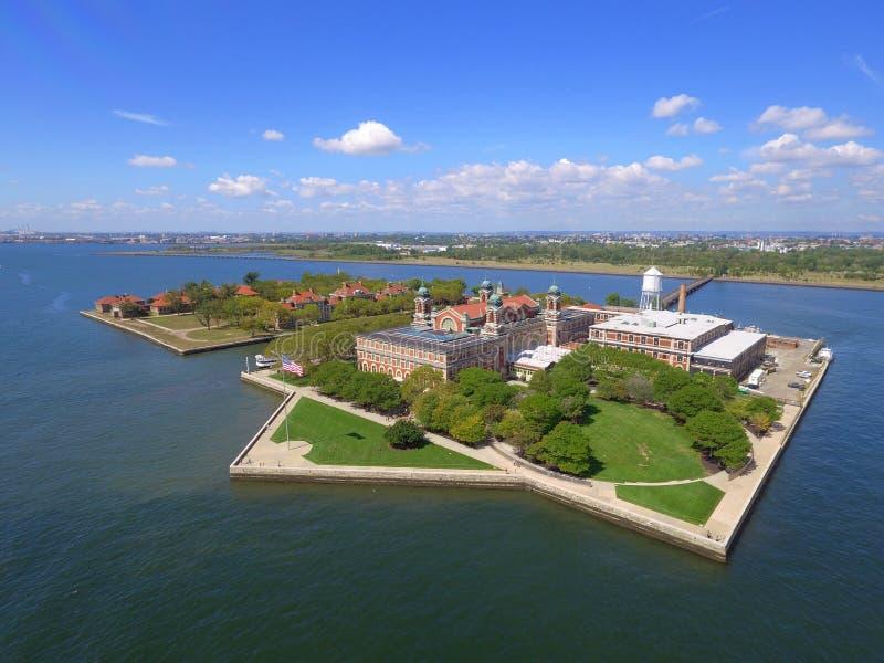 Imagem da antena de Ellis Island fotografia de stock royalty free