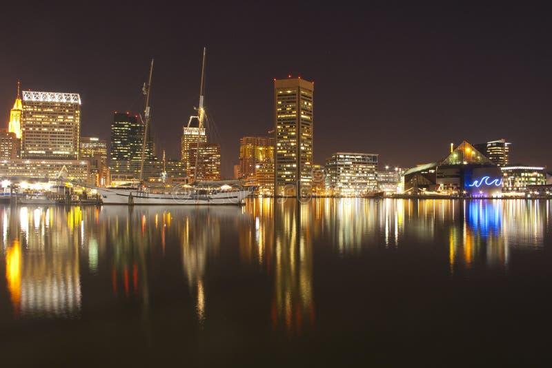 Imagem da arquitectura da cidade bonita de Baltimore Maryland imagem de stock