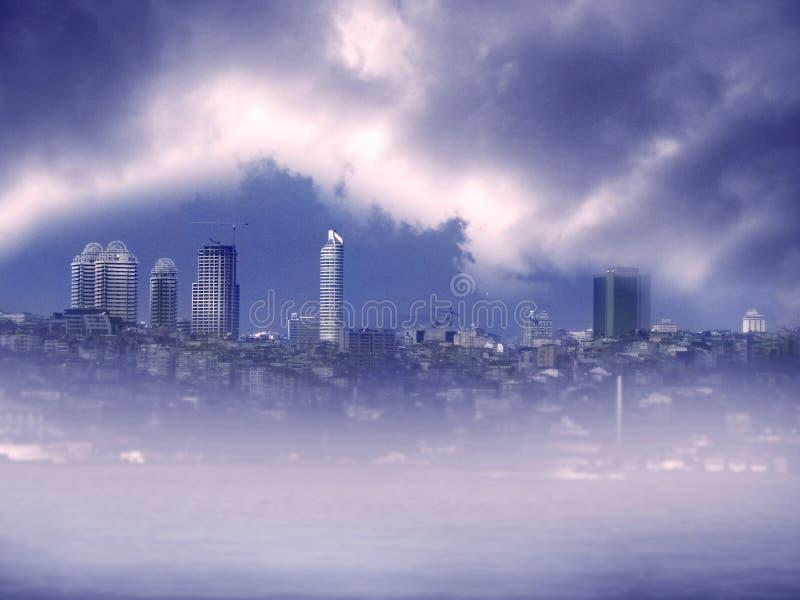 Imagem da arquitectura da cidade em Istambul foto de stock