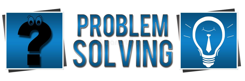 Bandeira do azul da resolução de problemas ilustração royalty free