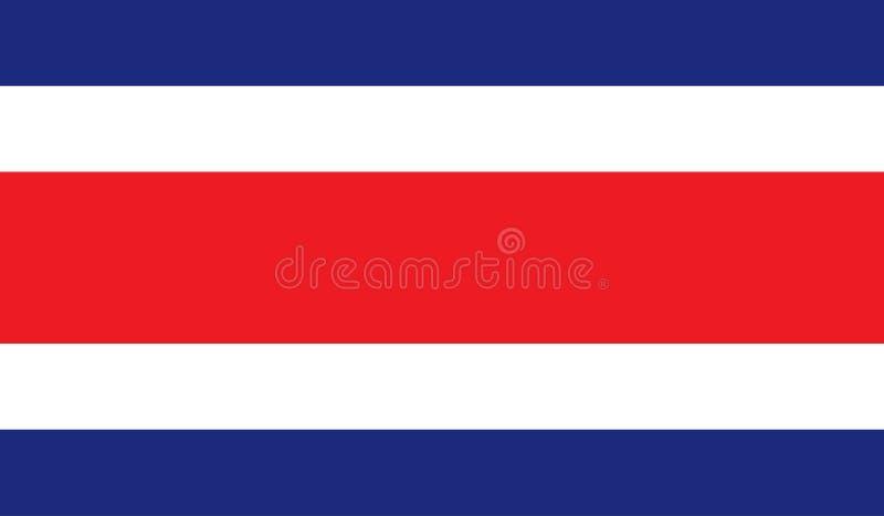 Imagem da bandeira de Costa Rica ilustração stock