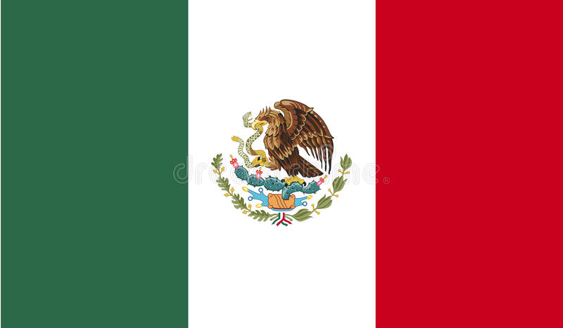 Imagem da bandeira de México ilustração do vetor