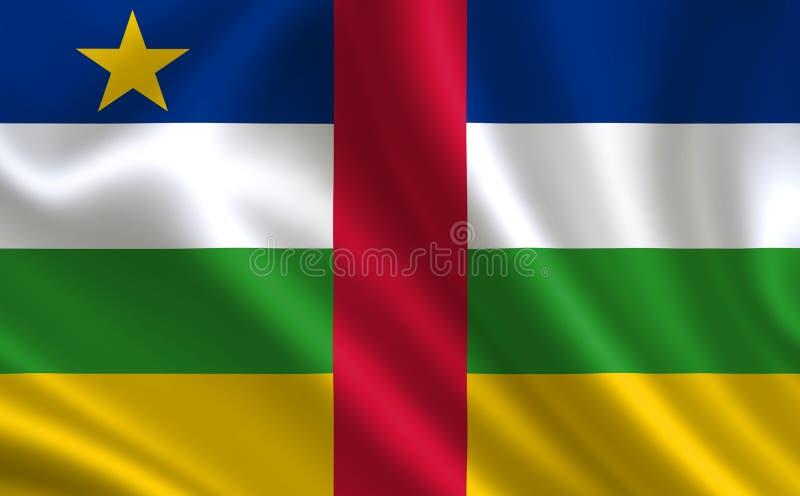 Imagem da bandeira República Centro-Africana Série 'África ' ilustração royalty free