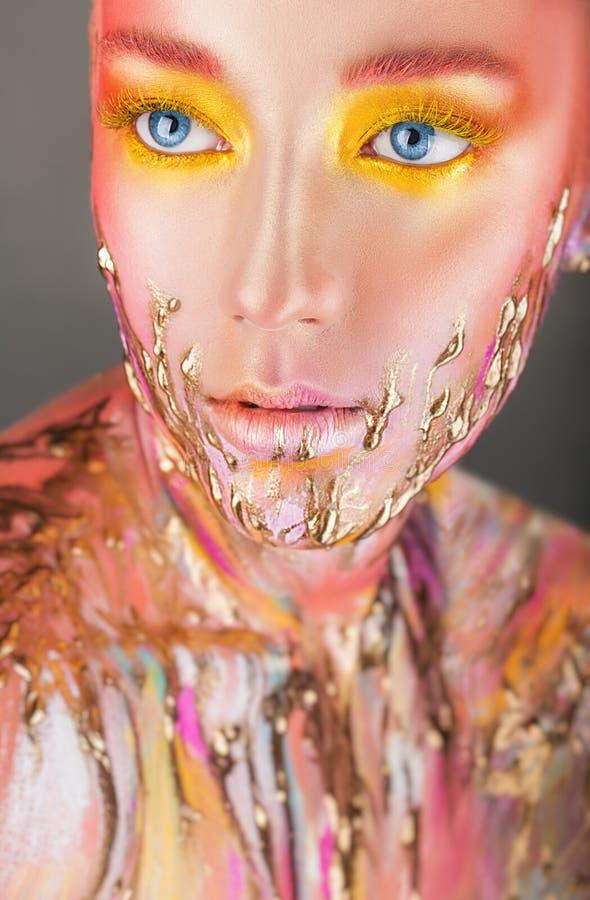 Imagem da beleza da arte foto de stock