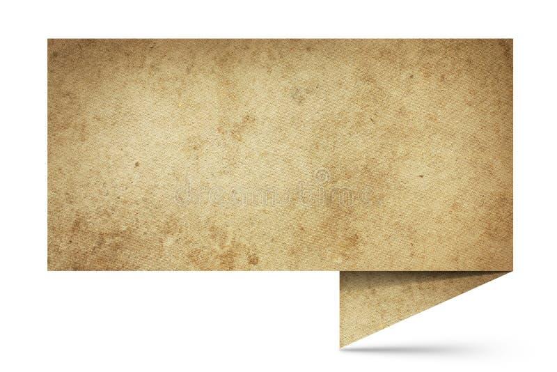 Imagem da bolha faladora do origami do vintge ilustração stock