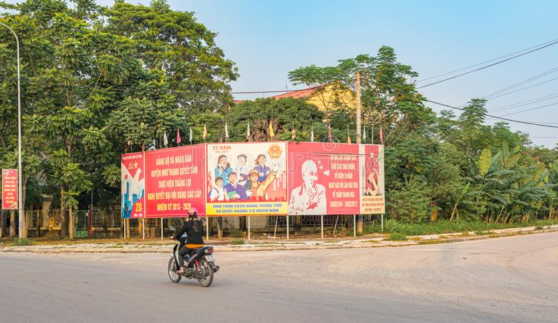 Imagem da cidade pequena de Ben Sung em Vietname fotos de stock royalty free