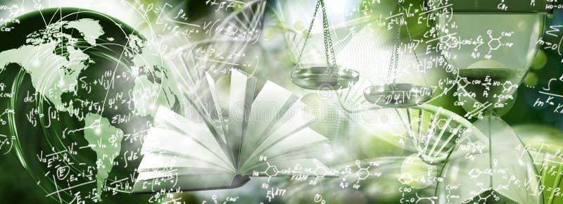 imagem da corrente do ADN no fundo biotecnológico imagens de stock royalty free