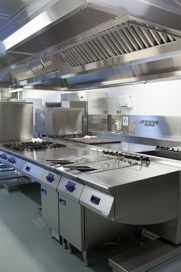 Imagem da cozinha do hotel imagens de stock