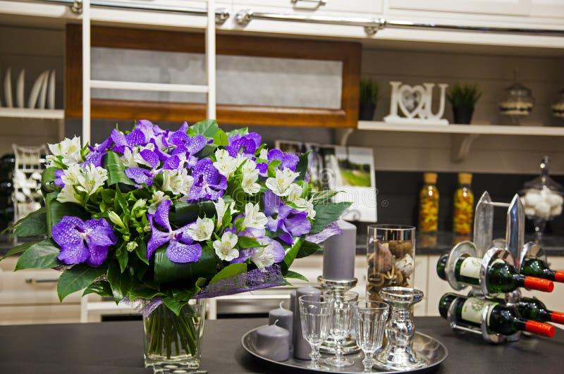 Imagem da decoração na cozinha foto de stock royalty free