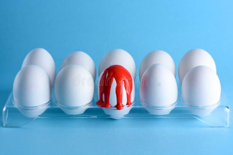 Imagem da faculdade criadora com ovos Hemofilia, sangramento, conceito da hemorragia Copie o espa?o para o texto fotografia de stock royalty free