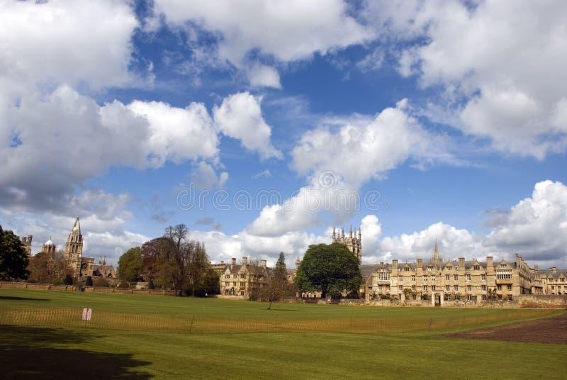 Imagem da faculdade de igreja de Cristo, oxford, reino unido imagens de stock royalty free