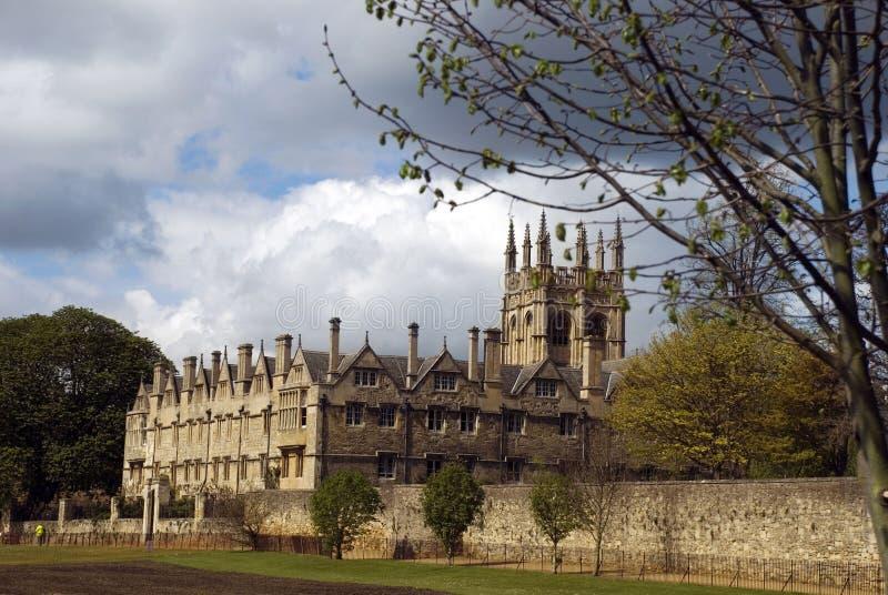 Imagem da faculdade de igreja de Cristo, oxford, reino unido foto de stock