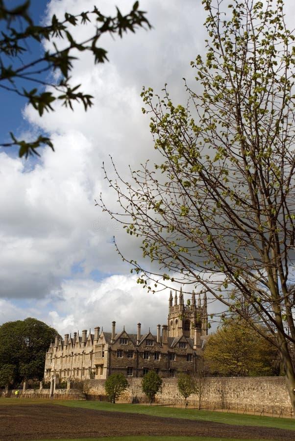 Imagem da faculdade de igreja de Cristo, oxford, reino unido fotografia de stock royalty free