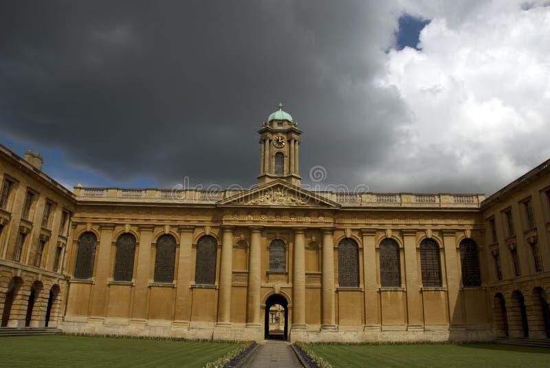 Imagem da faculdade da rainha, Oxford, reino unido. imagem de stock royalty free