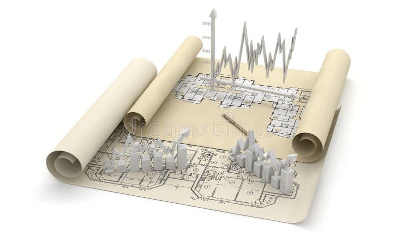 Imagem da finança do negócio ilustração do vetor