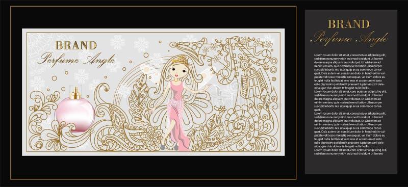 Imagem da ilustração do empacotamento do perfume do ângulo ilustração do vetor
