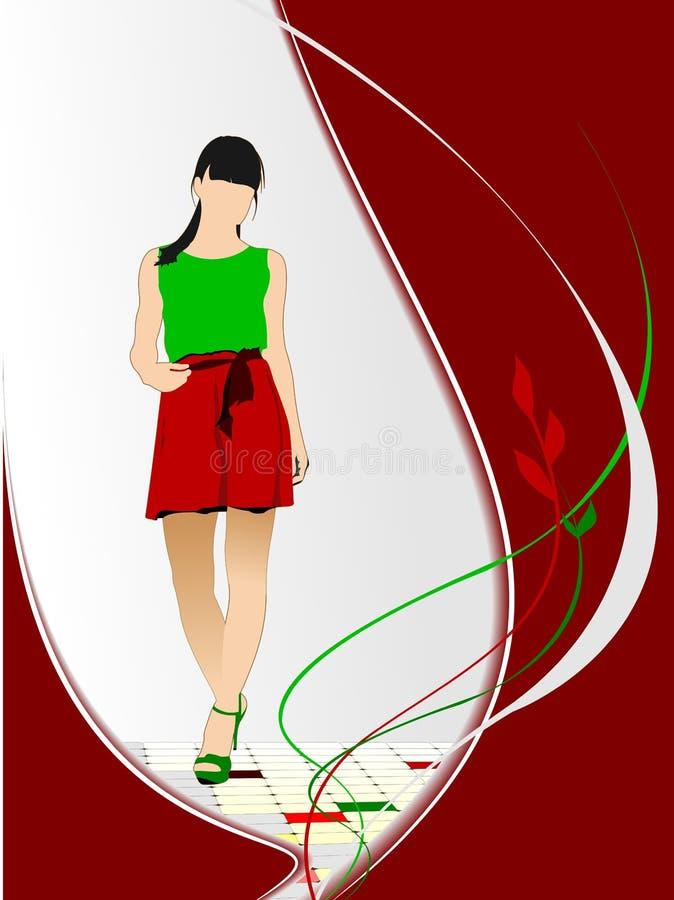Imagem da menina ilustração do vetor