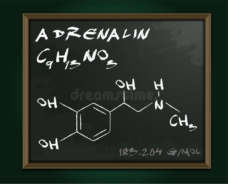 Imagem da molécula da adrenalina ilustração do vetor