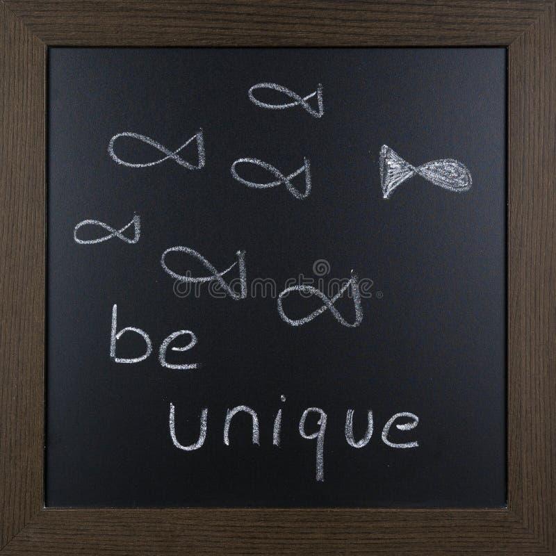 Imagem da motivação em um quadro-negro fotografia de stock royalty free