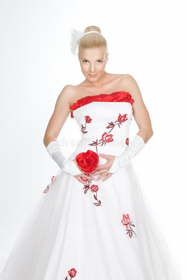 Imagem da noiva bonita imagens de stock