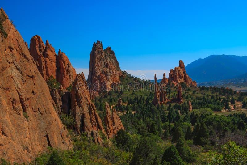 Imagem da paisagem do jardim dos deuses. fotografia de stock royalty free