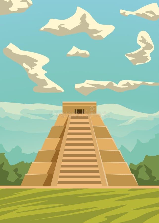 Imagem 02 da pirâmide do Maya ilustração royalty free
