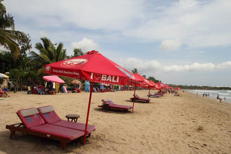 Praia de Kuta, Bali foto de stock royalty free