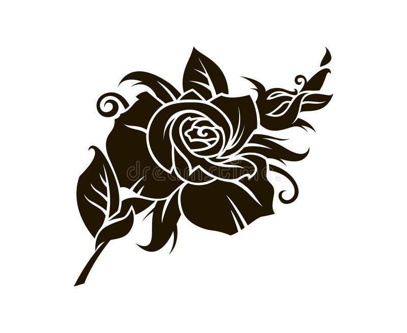 Imagem da rosa do preto ilustração do vetor
