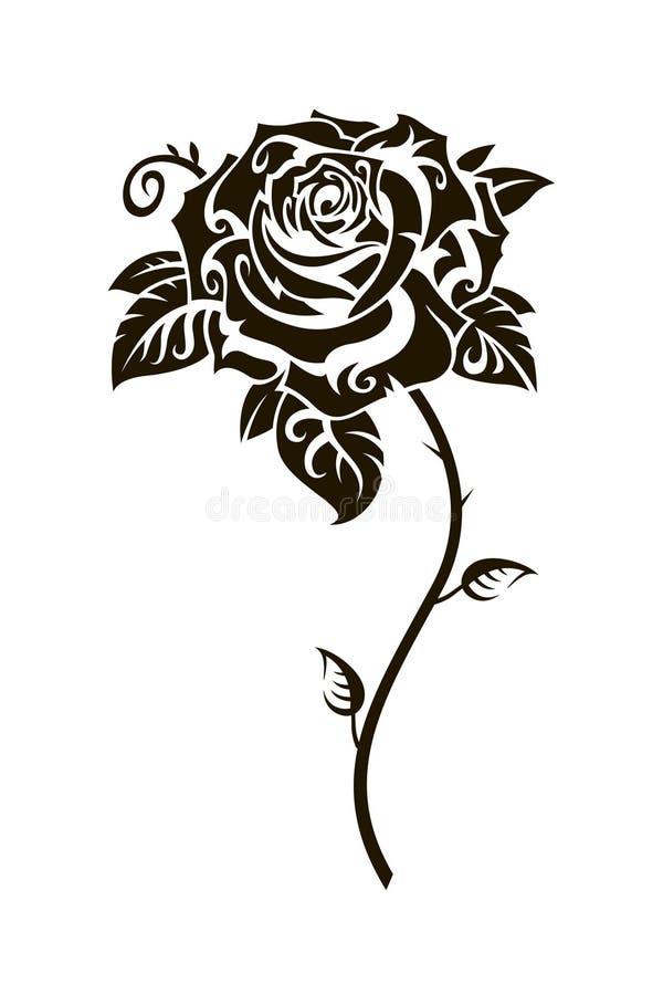 Imagem da rosa do preto ilustração stock