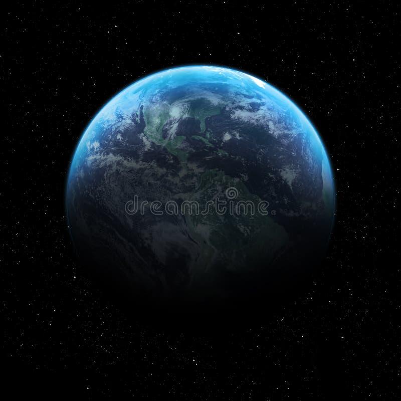 Imagem da terra da qualidade da altura ilustração stock