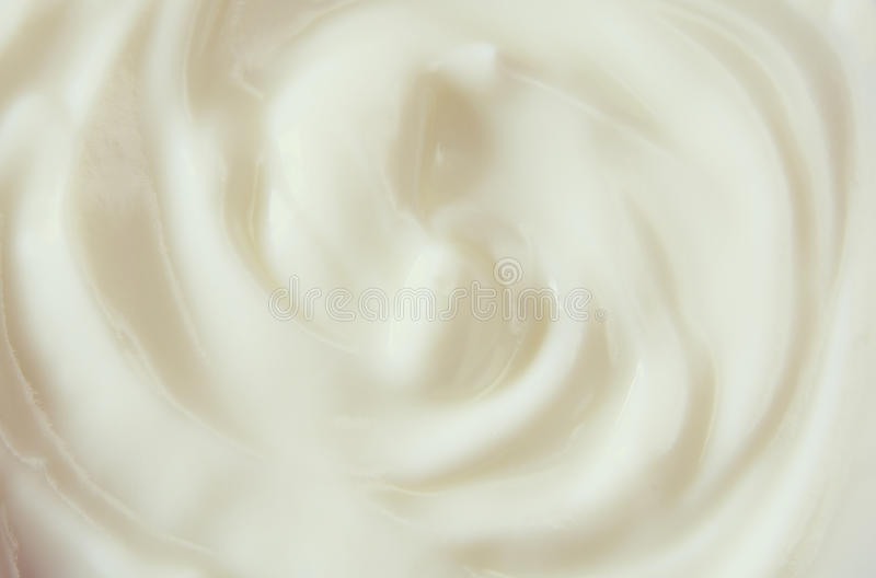 Imagem da vista superior do redemoinho do iogurte imagens de stock royalty free