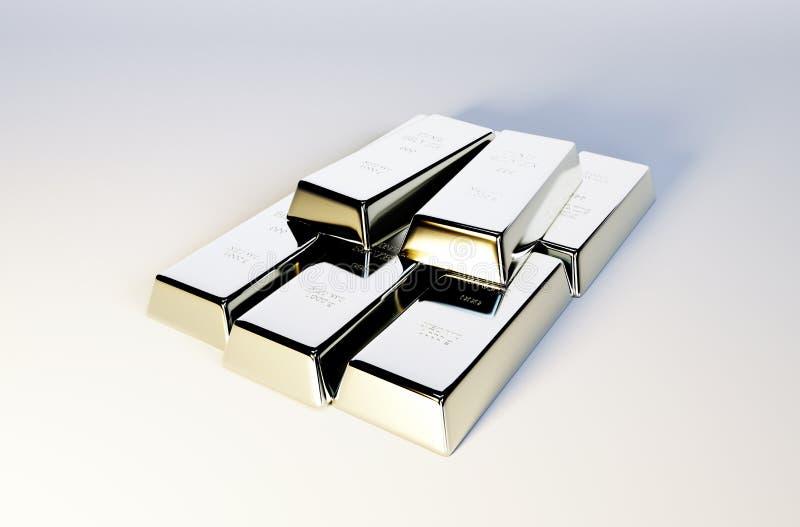 Imagem das barras de prata fotografia de stock