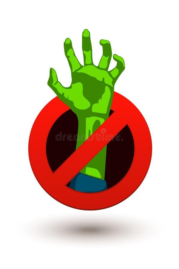 Imagem das mãos do zombi ilustração royalty free