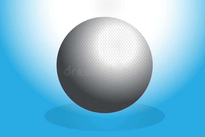 Imagem de aço de prata do vetor da textura da esfera do sumário ilustração do vetor