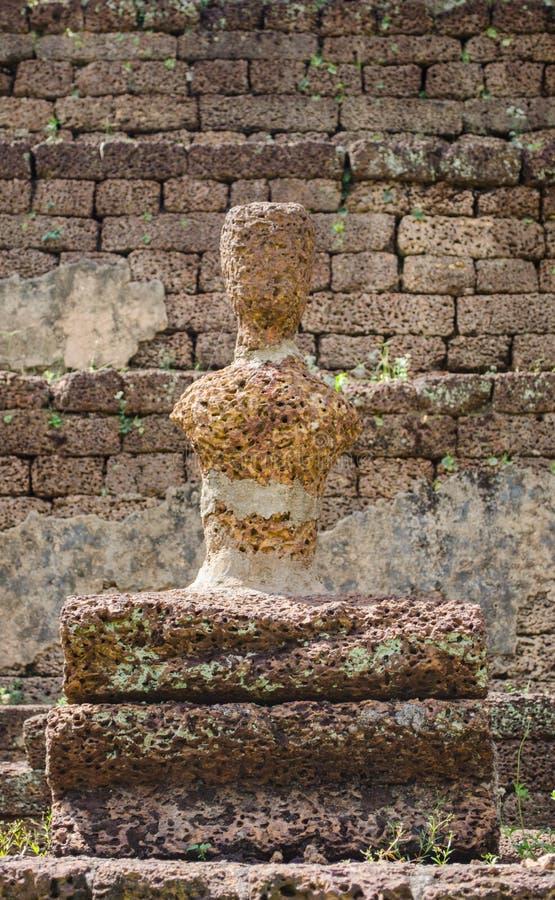 Imagem de buddha da ruína imagens de stock