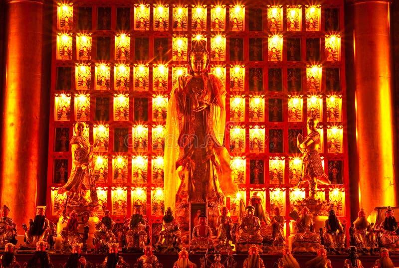Imagem de Buddha do estilo chinês fotografia de stock