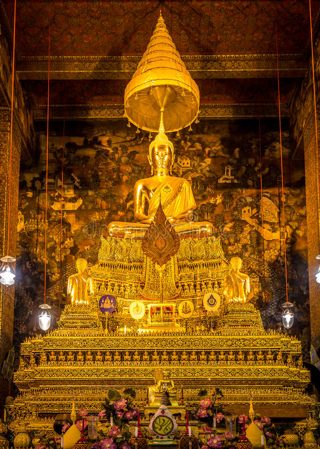 A imagem de buddha do princípio de Wat Poe foto de stock royalty free