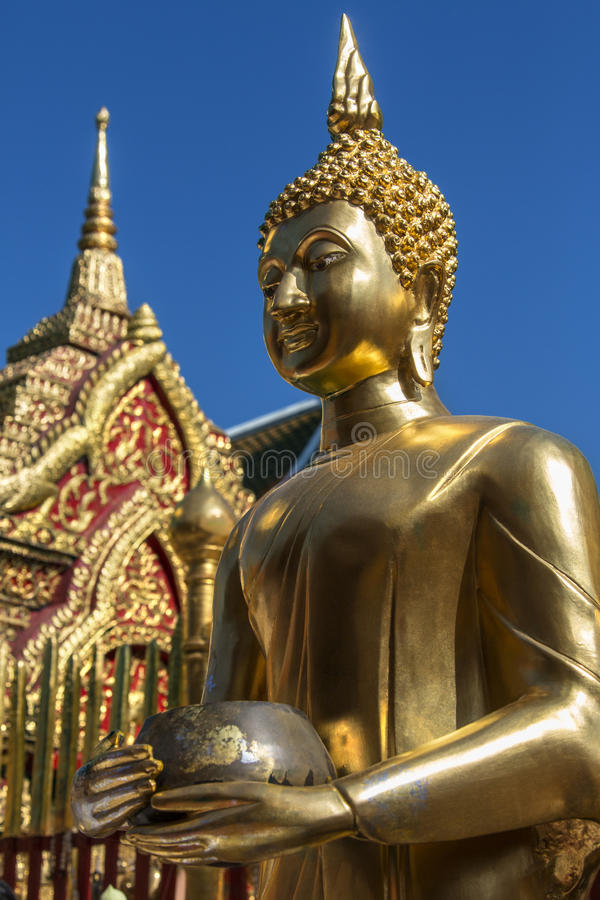 Templo budista de Doi Suthep - Chiang Mai - Tailândia imagens de stock